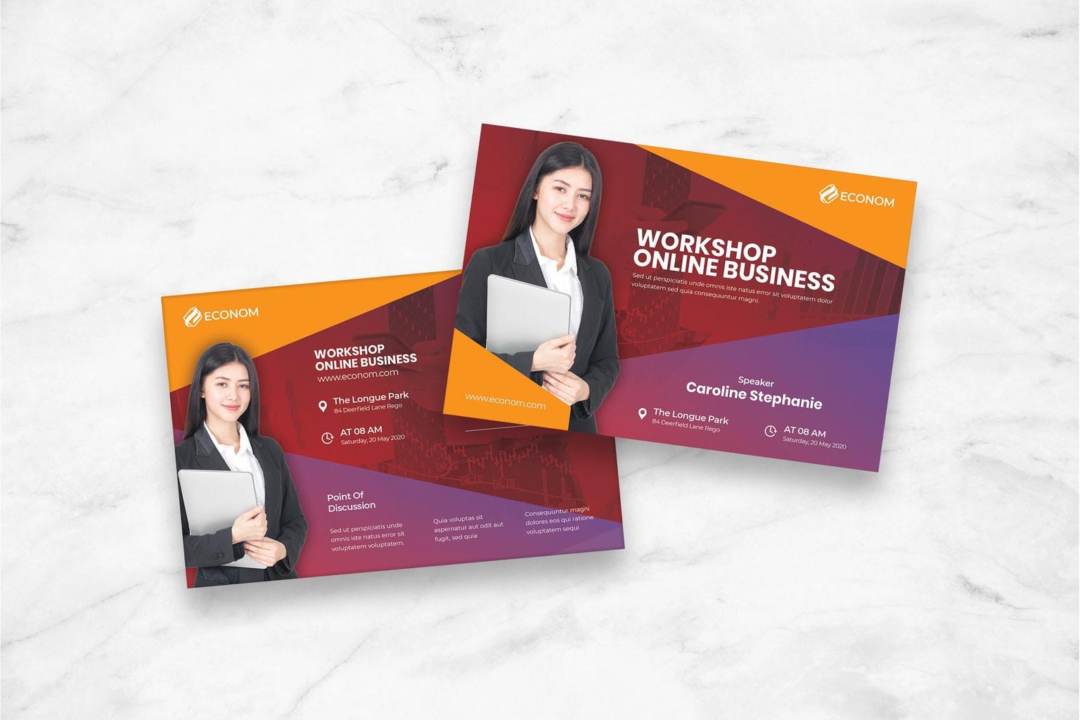 postcard workshop online business 1