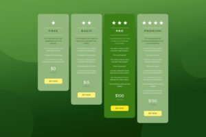 pricing table design project elements templates