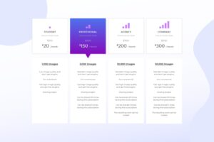pricing table digital design project