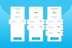 pricing table template web resources