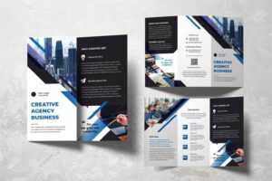 trifold brochure creative agency business