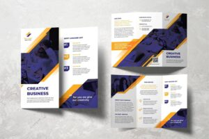 trifold brochure digital creative agency