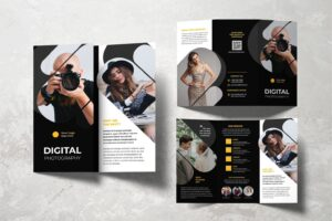 trifold brochure digital photography