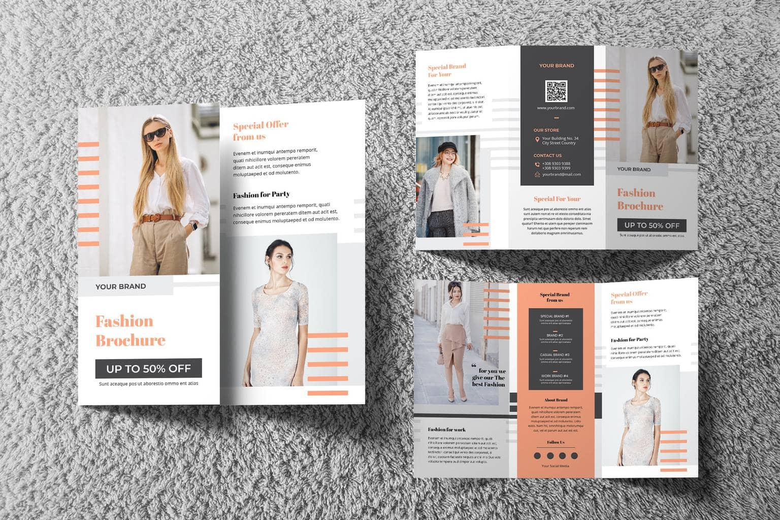 trifold brochure fashion special offers