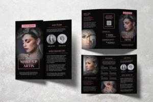 trifold brochure make up artist service