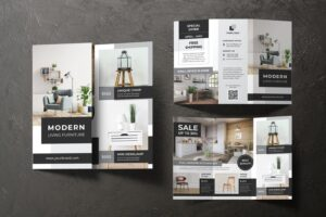 trifold brochure modern living furniture