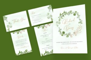 wedding invitation simple flower decoration