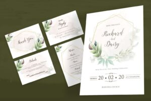 wedding invitation simple transparent splash 3