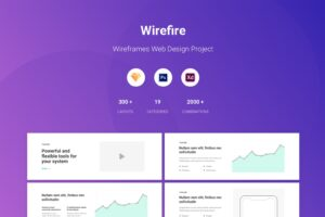 wirefire wireframe web design kit